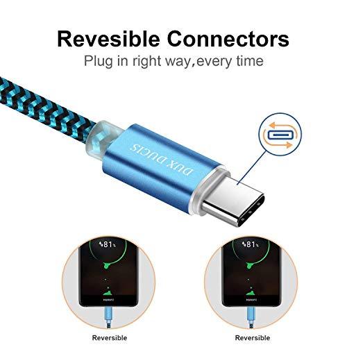 DUX DUCIS Kabel [2 Stück 1M] für Huawei P30 / Huawei P30 Pro/Huawei P30 Lite, Durable Nylon Supercharge USB C Ladekabel für All Huawei Type C Device - 4