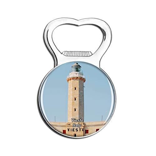Weekino Italie Vieste Tower Aimant De Réfrigérateur Bière Ouvre-Bouteille Ville Voyage Souvenir Autocollant de réfrigérateur Fort