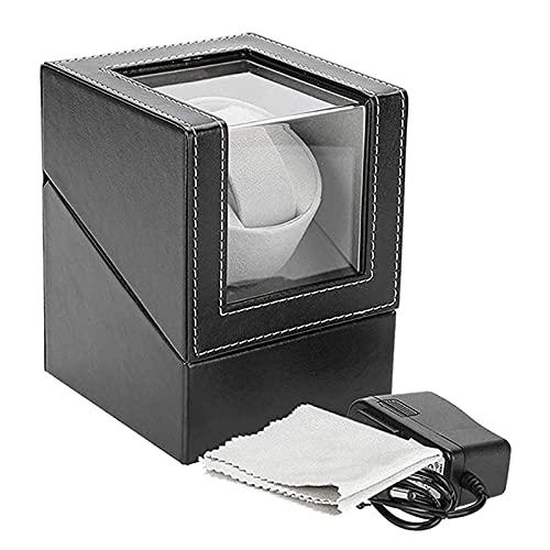 JINGGL Caja giratoria para Relojes Ver Winder Holder Pantalla Mecánico automático Reloj de bobinado Joyería Caja de Reloj automática
