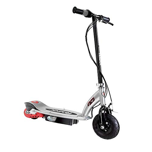 Razor E125 Kids Ride On 24V Motorized Battery Powered Electric Scooter Toy, Speeds up to 10 MPH with Brakes, Foldable Handlebar, and 8-Inch Pneumatic Tires for Kids Ages 8+, Black