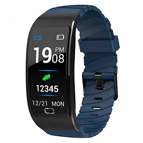 GYJUN Sportband-Armband mit Herzfrequenz-Messgerät Schlaf-Messgerät Kalorien-Schrittzähler Blutdruck Wasserdichter IP68-Farbbildschirm für Outdoor-Sportarten,Blau
