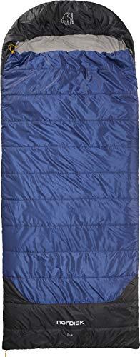 Nordisk - PUK Schlafsack, strapazierfähiges Ripstop-Außengewebe, 2-Wege-Reißverschluss, Deckenschlafsack, Blanket-Konstruktion/Form, 10 Grad, Grösse L, Blau