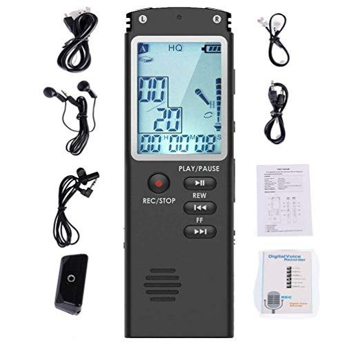 CHOULI Digital Voice Recorder Registratore vocale Audio Digitale Mini Spy attivato a Voce Nero