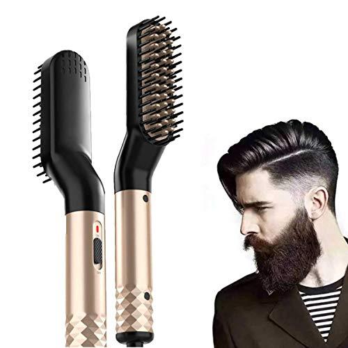 Cepillo para barba, multifuncional, cepillo de pelo y rizador, cepillo eléctrico para...