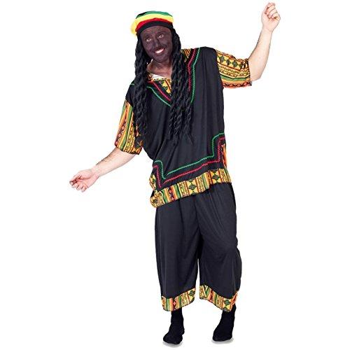 Spassprofi Kostüm Rasta Man inkl. Perücke mit Dreadlocks Gr. 52 M/L