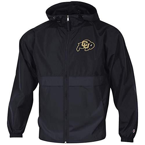 Champion Men's University of Colorado Buffaloes Jacket Full Zip Windbreaker Jacket (Large)
