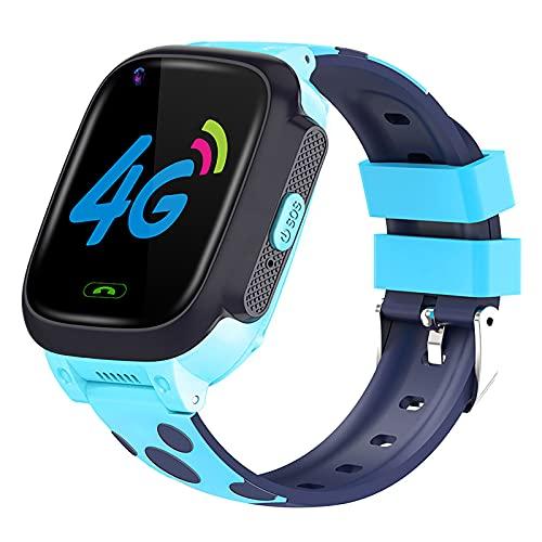 FVIWSJ Reloj Inteligente para teléfonos Android iOS,recepción/realización Llamadas,con Paso,recordatorio Mensaje aplicación,Control música, IP67 Prueba Agua para Hombres Mayores,Azul