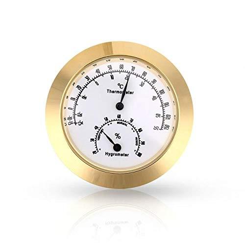 SQWK Runde Thermometer Hygrometer Luftfeuchtigkeit Temperatur Meter Für Violine Gitarrenkoffer Instrumentenpflege Überwachung Meter Werkzeug 2,0-3,9 I Gold
