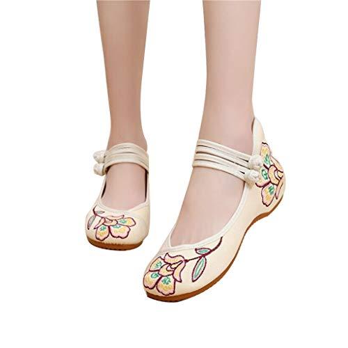 Zapatos Bordados Zapatos De Mujer Viejos Zapatos De Tela De Beijing Viento...