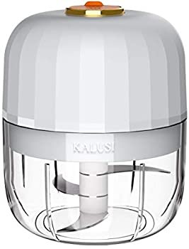 KALUSI Electric Mini Garlic Chopper/Food Processorfor Garlic Onion Vegetables Meats BPA Free 1 Cup/250ml