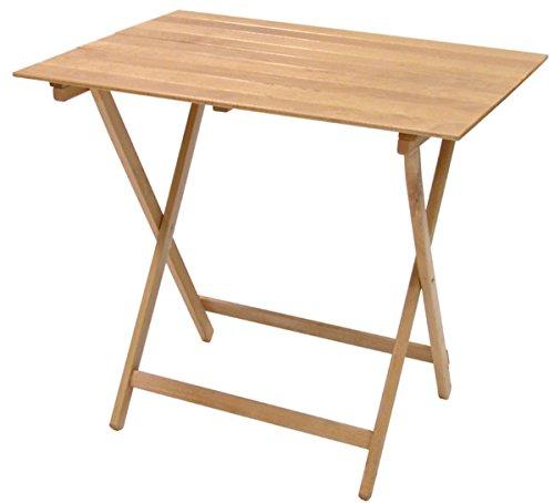 Savino Fiorenzo Table d'appoint ou de camping pliante, en bois naturel, 80 x 60 cm