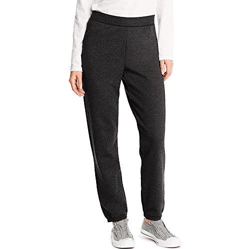 Hanes Womens ComfortSoft EcoSmart Sweatpants, S, Ebony