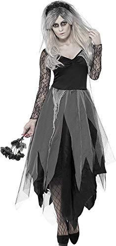 B-Creative Disfraz de cadver zombi para mujer de cementerio, para Halloween, disfraz de fantasma, disfraz de oficina, fiesta temtica (mediano)