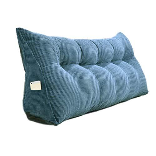 THBEIBEI Slaapbank, grote vulling, driehoekig, wigvormig kussen, slaapkamer, bed, achterkussen, taille pad afneembaar
