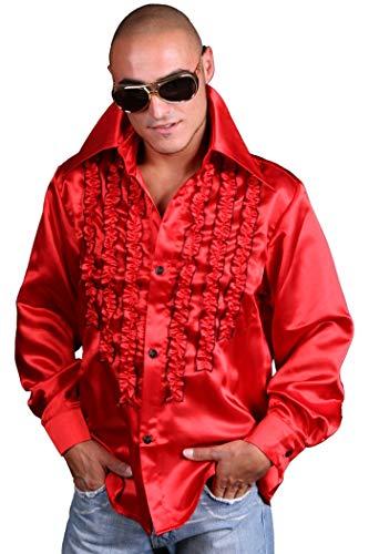 Marco Porta carnavalskostuums Ltd. & Co. KG rood ruches hemd hemd hemd hemd jaren 70 slagparty outfit heren