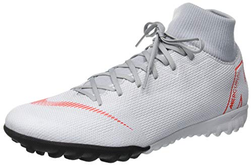 Nike Unisex-Erwachsene Superfly 6 Academy Tf Fitnessschuhe, Mehrfarbig (Wolf Grey/Lt Crimson/Pure Platinum 060), 44 EU