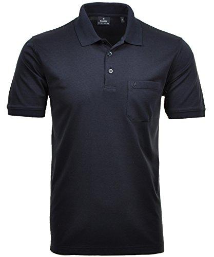 RAGMAN Herren RAGMAN Kurzarm Softknit Poloshirt Large, Marine
