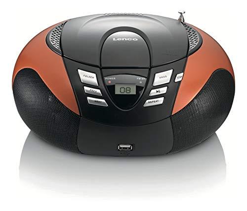 Lenco SCD-37 draagbare FM-radio met CD-speler (USB 2.0) oranje