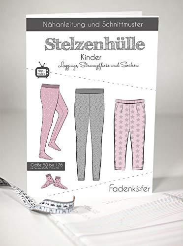 Schnittmuster Fadenkäfer Stelzenhülle Gr.50-176 Kinder Leggings Strumpfhose inkl.Socken Gr.15-35 selber nähen Papierschnittmuster
