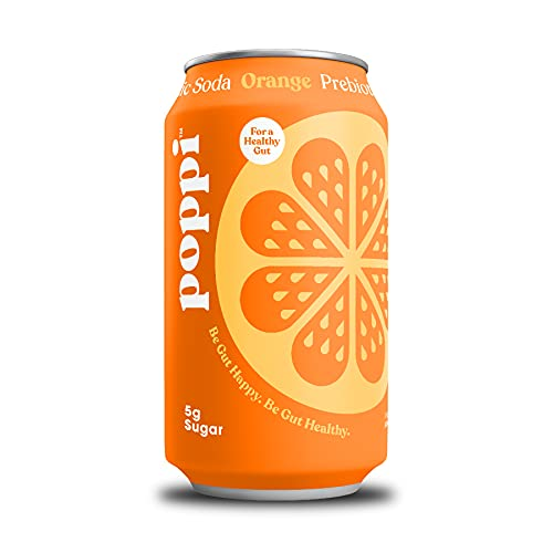 poppi A Healthy Sparkling Prebiotic Soda, w/ Real Fruit Juice, Gut...