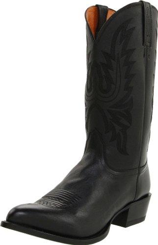 Lucchese Classics Herren M1020 Stiefel, (Lodestar Cowboy, Kalb, Schwarz), 44 EU