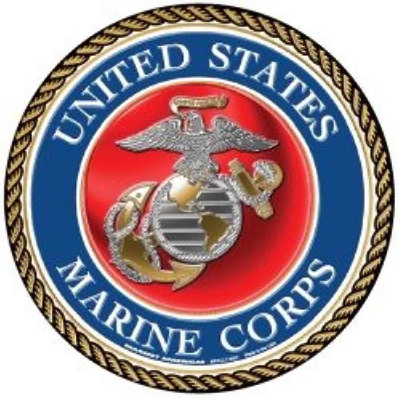 USMC Marine Seal Circle Magnet