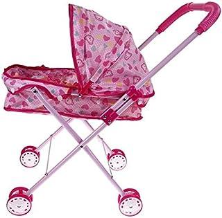 Mumoo Bear Dolls Buggy Stroller Pushchair Pram Fold-able Girls Toy Doll Pram Baby Doll