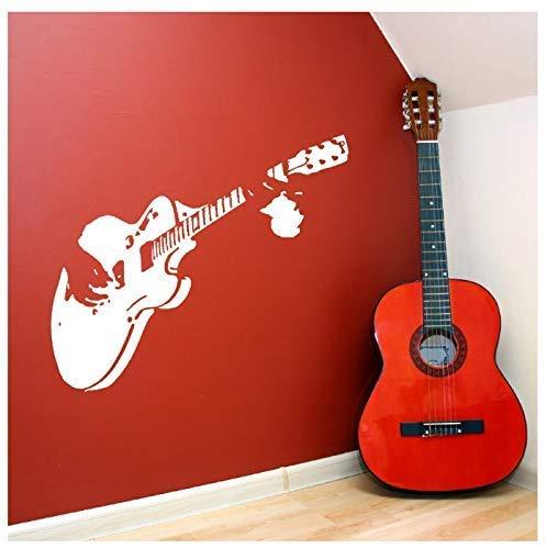Arte Creativo Guitarra Etiqueta De La Pared Decoración Del Hogar Instrumento Musical Etiqueta De La Pared Decoración Del Hogar Sala De Estar Dormitorio Etiqueta De La Pared 58X63Cm