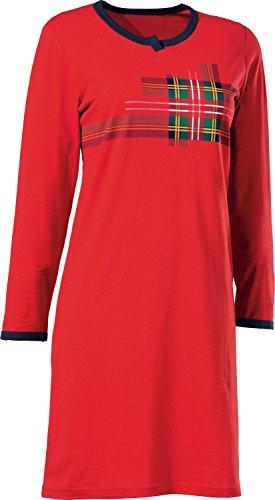 laritaM Nachthemd mit Druckmotiv Single-Jersey rot Größe 44