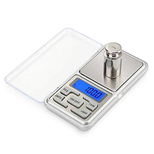 Relaxbx Balance de Cuisine numérique 100/200/300/500G X 0 01G/0 1G Mini-Balance numérique de Poche pour balances à Bijoux Balance Gram Balance électronique-100G-0.01G