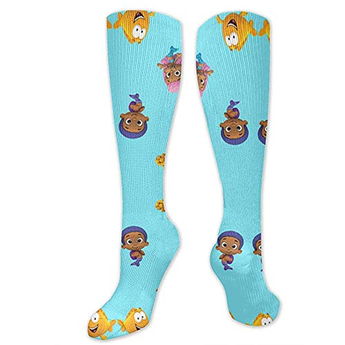 ulxjll Lange Socken Bubble_Guppies Men Compression Socks Beste Absolventen Männer Frauen Athletisch Laufen Medical Women Flight Travel 50Cm
