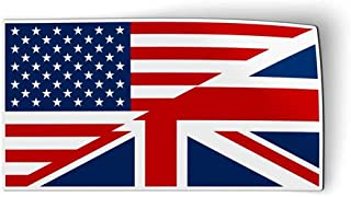 AK Wall Art USA UK Combo Friendship Flag - Magnet - Car Fridge Locker - Select Size