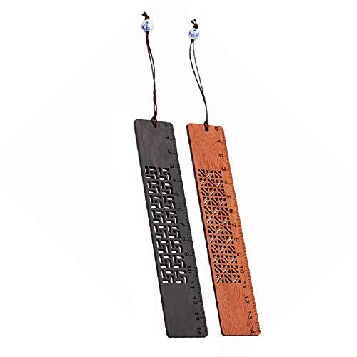bobotron Set di segnalibri fatti a mano in legno naturale, un regalo unico per insegnanti, studenti, donne, padre