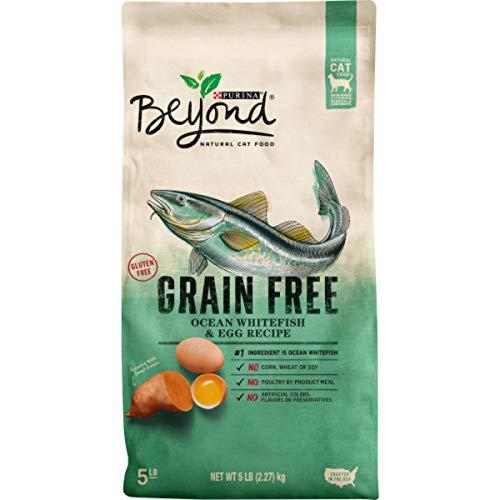 Purina Beyond Grain Free, Natural Dry Cat Food, Grain Free Ocean Whitefish & Egg Recipe - 5 lb. Bag