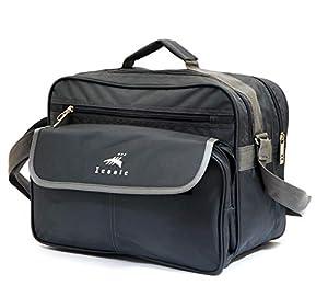 ICONIC Stylish Office Bag 25L/Travelling Bag/Backpack/Messenger Bag/Marketing Bag/Multipurpose Bag/Executive Bag/Satchel with Removable Shoulder Strap and Zippered Pockets Inside(38x28x24cm, Grey)
