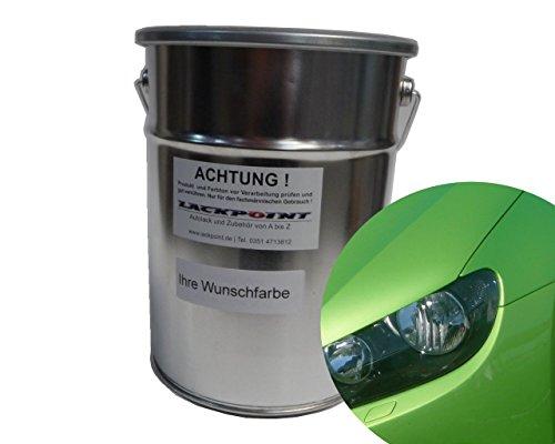 Lackpoint 0,5 Liter Spritzfertigen Basislack für VW LR6T Viperngrün Metallic Autolack Grün