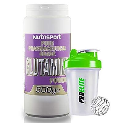 Nutrisport Pure Pharmaceutical Grade Glutamine Powder 500g + Shaker