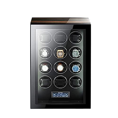 HEZHANG Watch Box Watch Watch Winder Del 24/6/6/9/12/24 Relojes Watch Watch Box con Pantalla de Retroiluminación Azul Lcd Pantalla Táctil Y Control Remoto,12 + 0