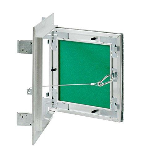 MW multi werkzeug Revisionsklappe 100 x 100 mm mit 12,5mm GK-Einlage imprägniert für Feuchtraum geeignet Aluminium-Rahmen 10 x 10 cm