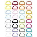EXCEART 32 Piezas de Plástico D Dee Anillos Cinchas Hebillas de Cinturón Bolsa Correas Eslingas Collares de Perro Accesorios Bolsas Anillo para Ropa
