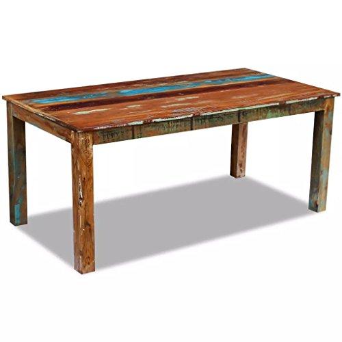 XingliEU Deze eettafel van massief hout van gerecycled hout 180 x 90 x 76 cm. Deze tafel creëert een comfortabele eetkamer.