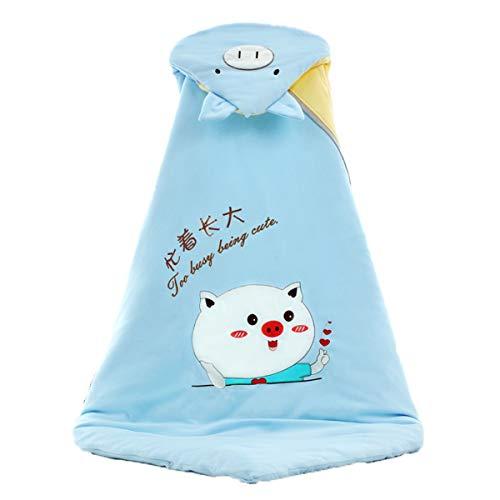 MHMTSY Saco de dormir para bebé Modelos de otoño e invierno Espesamiento de algodón Correas de seguridad de velcro suaves y cómodas Adecuado para 0-36 meses Tela de selección de bebé