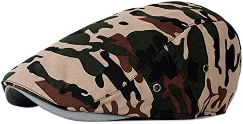 iTemer 1 Pieza de Moda Estilo Camuflaje Creativo al Aire Libre Casquillo del Sombrero Boina Unisex Adecuado para la Primavera Verano y oto/ño Style A