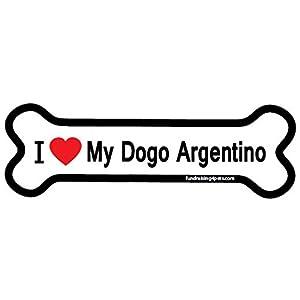 I Love My Dogo Argentino bone magnet 40