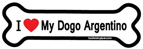 I Love My Dogo Argentino bone magnet 1