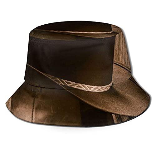 Yearinspace Sombrero de pescador unisex para adultos, sombrero de vaquero occidental, gorra de sol,...