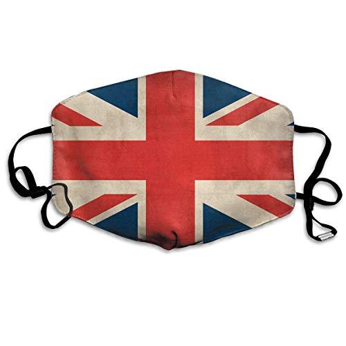 Mouth Cover,Vintage Union Jack British Flag # 2 Mundschutz, Stilvolle Gesichtsdekoration Für Skifahren Camping,18x11cm