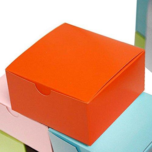 Tableclothsfactory 4x4x2 Orange Cake Box-100 Boxes