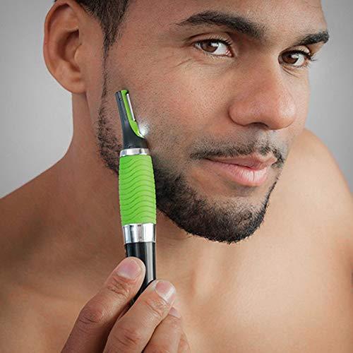 SHOP-STORY - Tondeuse de Précision pour Nez Oreille Cou Moustache Sourcils Visage Rasoir Rasage Vert