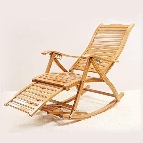 Folding nap Stuhl, Erwachsene Mittagspause, Lehner, Balkon Schaukelstuhl, alter Mann kühlen Stuhl. Konkav erWeißerte neue Art Schaukelstuhl (Wattepad)